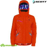 Scott női síkabát, snowboard kabát PIXLEY atomic orange