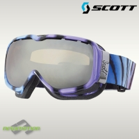Scott sí-, és snowboard szemüveg AURA Plus jungle love/silver chrome