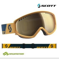 Scott sí-, és snowboard szemüveg FAZE citrus yellow/coral blue light sensitive lencsével