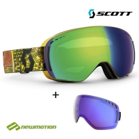 Scott sí-, és snowboard szemüveg LCG Compact basecamp orange - green chrome