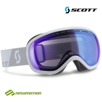 Scott sí-, és snowboard szemüveg Off-Grid white - illuminator blue chrome 236510