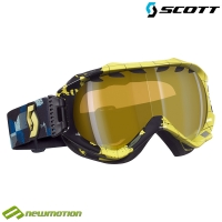 Scott sí-, és snowboard szemüveg WITNESS plaid yellow - yellow chrome