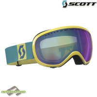 Scott sí-, és snowboard szemüveg Off-Grid yellow/teal green-teal Chrome